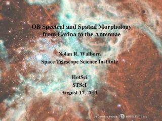 OB Spectral and Spatial Morphology from Carina to the Antennae