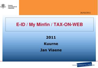 E-ID / My Minfin / TAX-ON-WEB