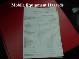 Mobile Equipment Hazards