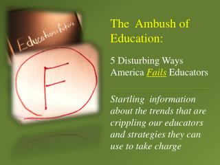 5 Disturbing Ways America  Fails Educators