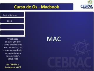 Curso de Os -  Macbook