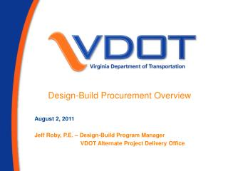 Design-Build Procurement Overview
