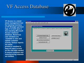VF Access Database