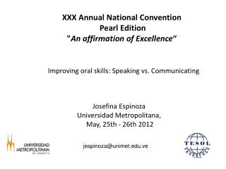 "XXX Annual National Convention  Pearl Edition "" An affirmation of Excellence """