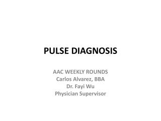 PULSE DIAGNOSIS