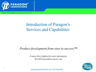 Introduction of Paragon's Services and Capabilities