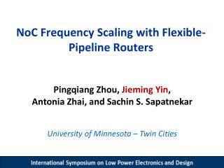 NoC  Frequency Scaling with Flexible-Pipeline Routers
