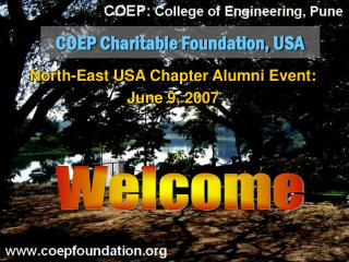 COEP Charitable Foundation, USA
