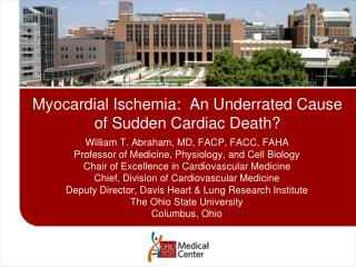 Myocardial Ischemia:  An Underrated Cause of Sudden Cardiac Death?