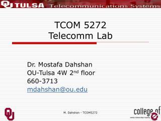 TCOM 5272 Telecomm Lab