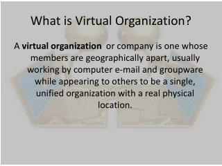 What is Virtual Organization?