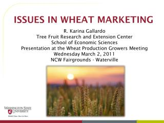 ISSUES IN WHEAT MARKETING