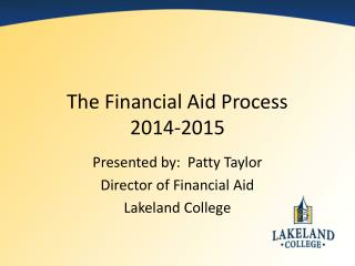 The Financial Aid Process 2014-2015
