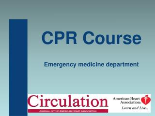 CPR Course Emergency medicine department