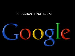 INNOVATION PRINCIPLES AT