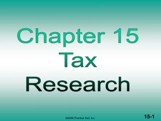 TAX RESEARCH (1 of 2)