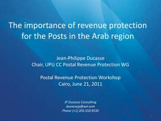 The importance of revenue protection for the Posts in the Arab region
