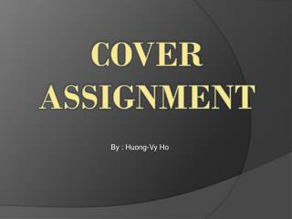 COVER ASSIGNMENT