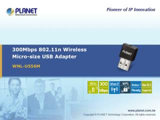 300Mbps 802.11n Wireless  Micro-size USB Adapter