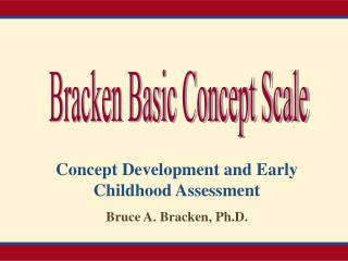 Bracken Basic Concept Scale