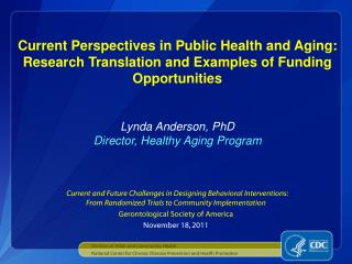Division of Adult and Community Health
