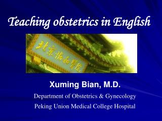 Teaching obstetrics in English