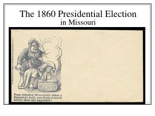 The 1860 Presidential Election in Missouri