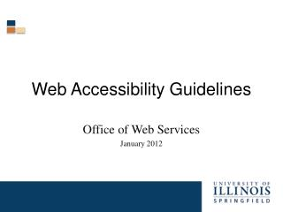 Web Accessibility Guidelines