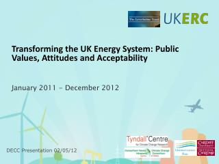 Transforming the UK Energy System: Public Values, Attitudes and Acceptability