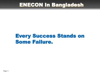 ENECON In Bangladesh