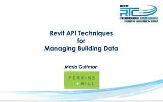 Revit API  Techniques for Managing Building Data
