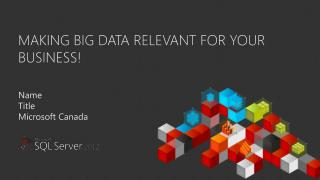 Making Big data relevant for your business!