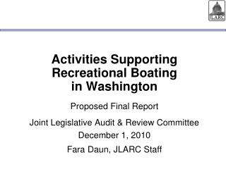 Activities Supporting Recreational Boating  in Washington