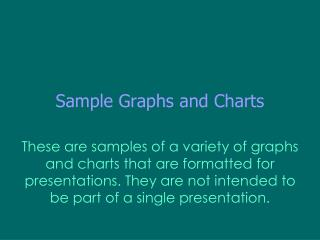 Sample Graphs and Charts
