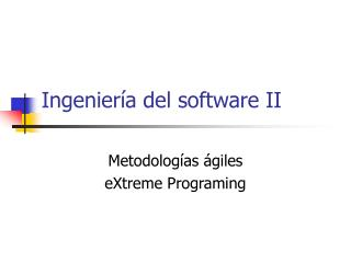 Ingeniería del software II