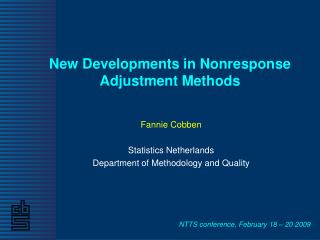 New Developments in Nonresponse Adjustment Methods