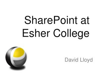 SharePoint at  Esher College