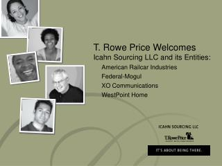 T. Rowe Price Welcomes Icahn Sourcing LLC and its Entities: 	American Railcar Industries