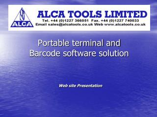 Portable terminal and  Barcode software solution