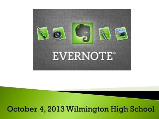 October 4, 2013 Wilmington High School