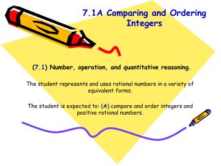( 7.1 ) Number, operation, and quantitative reasoning.