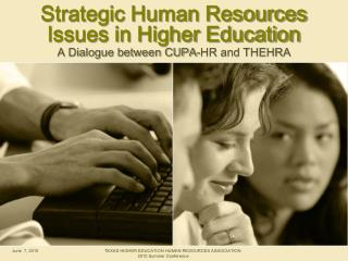 Strategic Human Resources Issues in Higher Education