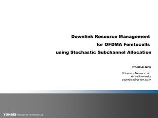 Downlink Resource Management  for OFDMA Femtocells  using Stochastic Subchannel Allocation