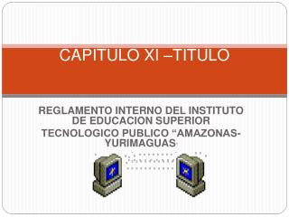 CAPITULO XI –TITULO