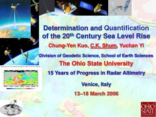 Sea Level Rise: An Interdisciplinary Science and Societal Problem