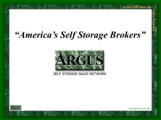 """America's Self Storage Brokers"""