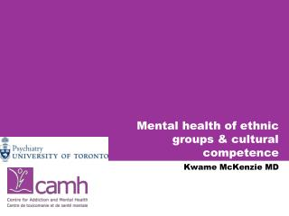 Mental health of ethnic  groups & cultural competence