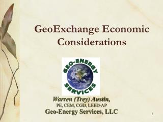 GeoExchange Economic Considerations
