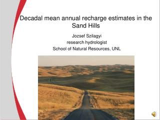 Decadal mean annual recharge estimates in the Sand Hills