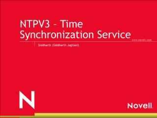 NTPV3 – Time Synchronization Service